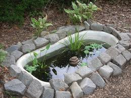 A Hidden Pond With Little Fountain Do You Think There Is Bench Tucked Up In