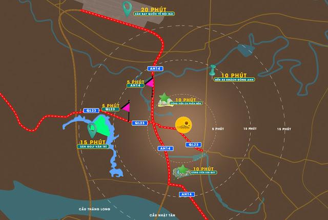 Mở bán Dự án Helianthus Center Red River Vimefulland Cổ Dương Tiên Dương Đông Anh mặt đường 23b