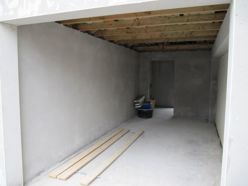 sebastians garagenbau garage innen verputzt. Black Bedroom Furniture Sets. Home Design Ideas