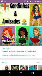 Gordinhas e Amizade - Grupo de WhatsApp