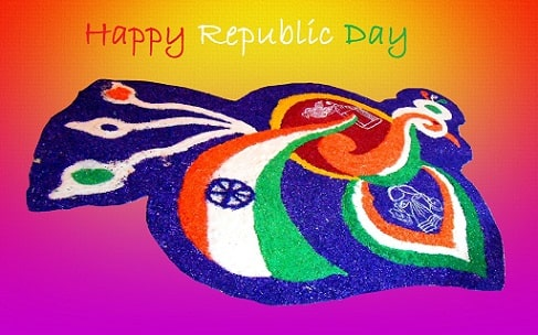 peacock republic day rangoli design