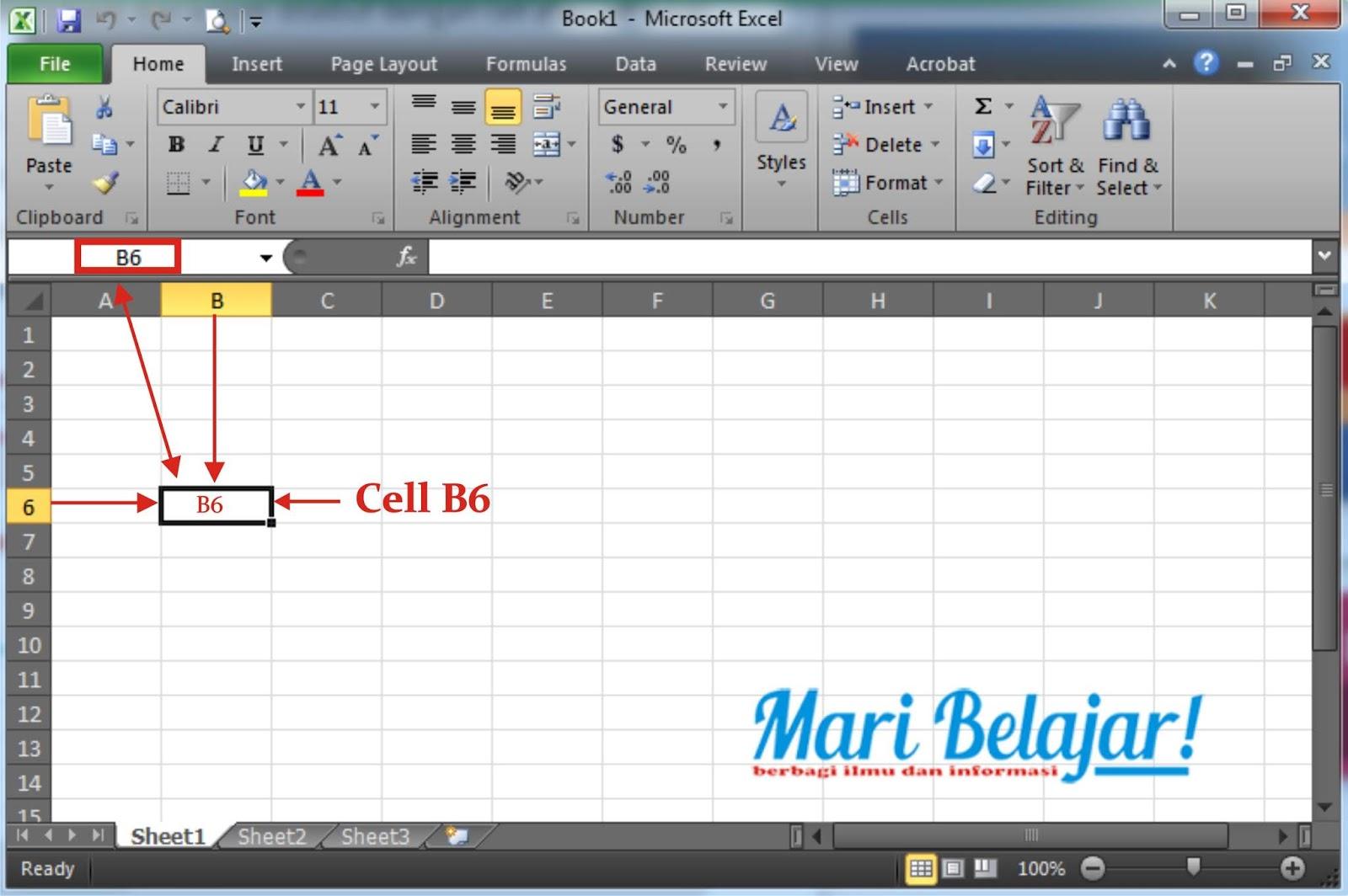 Pengertian Cell Range Row Dan Column Pada Ms Excel