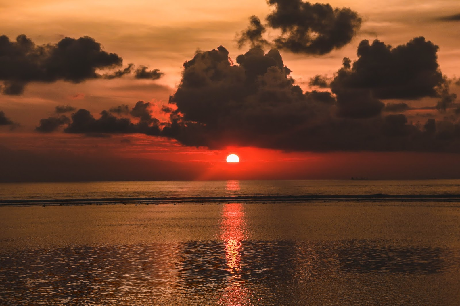 Sunset in Gili Trawangan Bali Indonesia