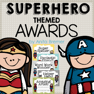 Superhero themed student awards! Perfect for an end of the school year activity, to celebrate each student's achievements and talents! Tons of categories and options included. #superhero #superherotheme #awards #studentawards #endofyear