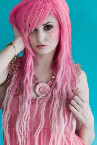 baby pink ombre hairstyles