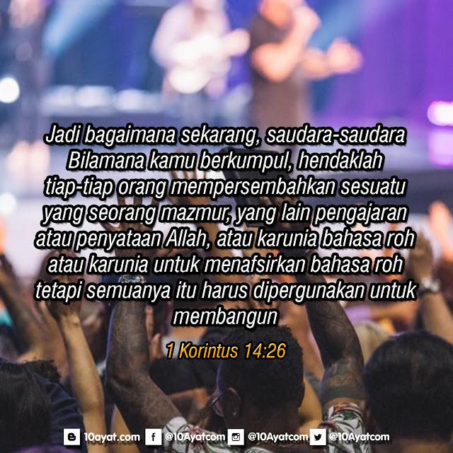 1 Korintus 14:26