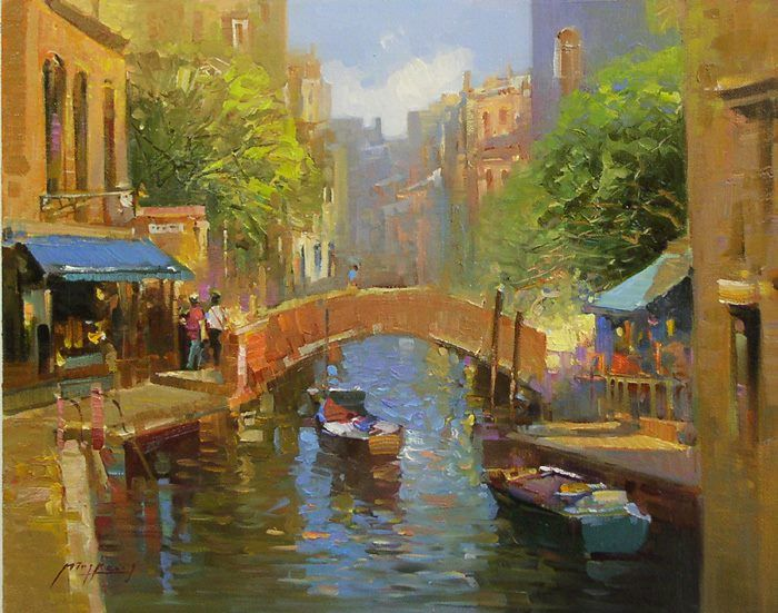 Chinese Impressionist Painter Ming Feng 1957 Fine Art