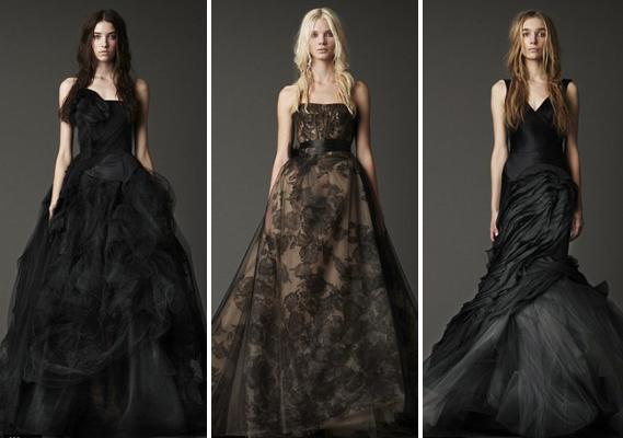 Wedding Blog: Vera Wang Black Wedding Dresses
