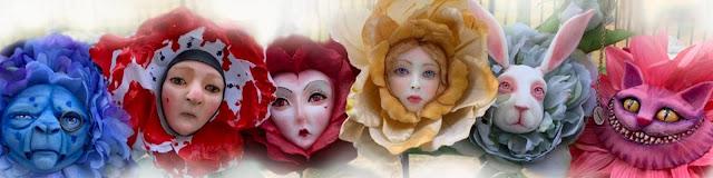 Alice in Wonderland Talking Flowers by SutherlandDollArt