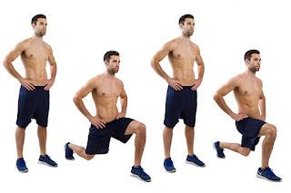 cara membentuk otot kaki dengan gerakan lunges