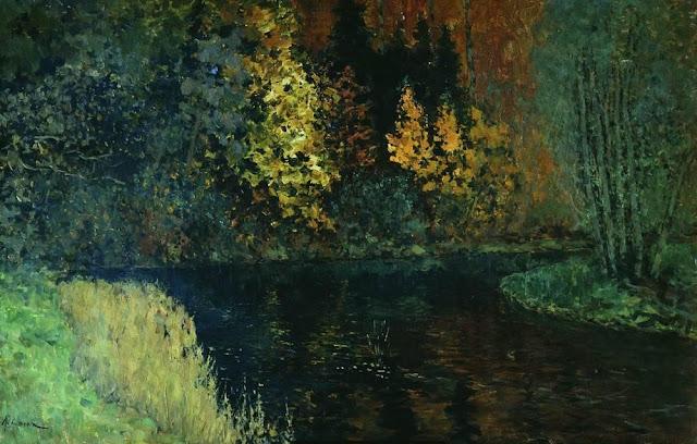Исаак Ильич Левитан - Лесная река. Осень на реке Истра. 1885-1886
