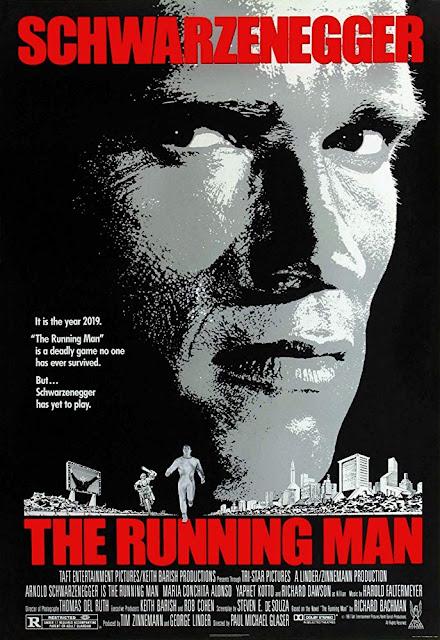 Póster película Perseguido - The Running Man