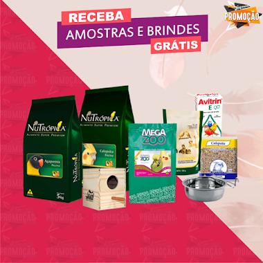 Amostras Grátis - Produtos Especiais para Pássaros
