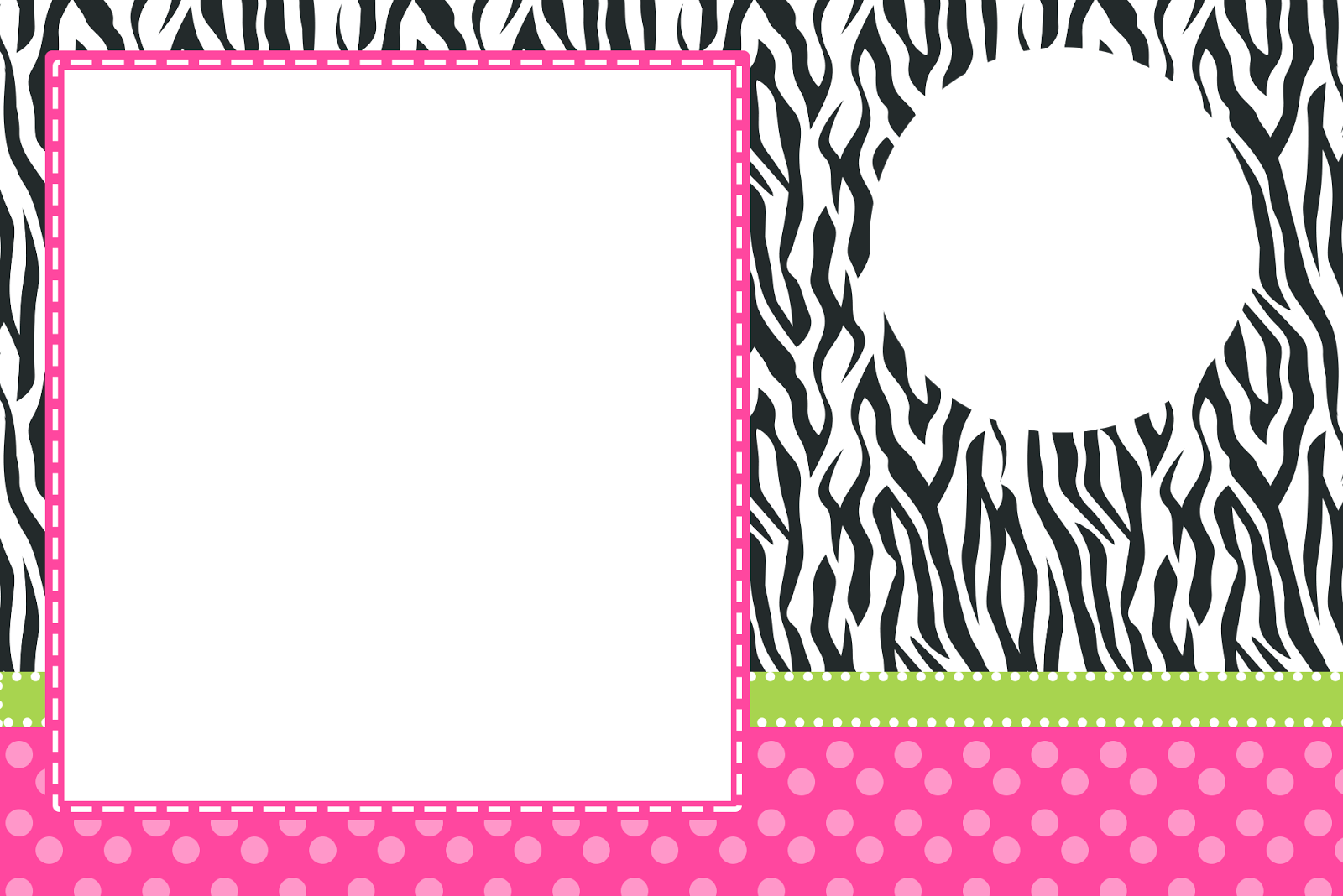 Animal Print Wallpaper Border Cebra Y Rosa Invitaciones Para Imprimir Gratis Oh My