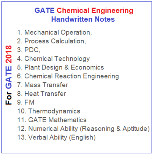 gate-chemical-engineering-notes