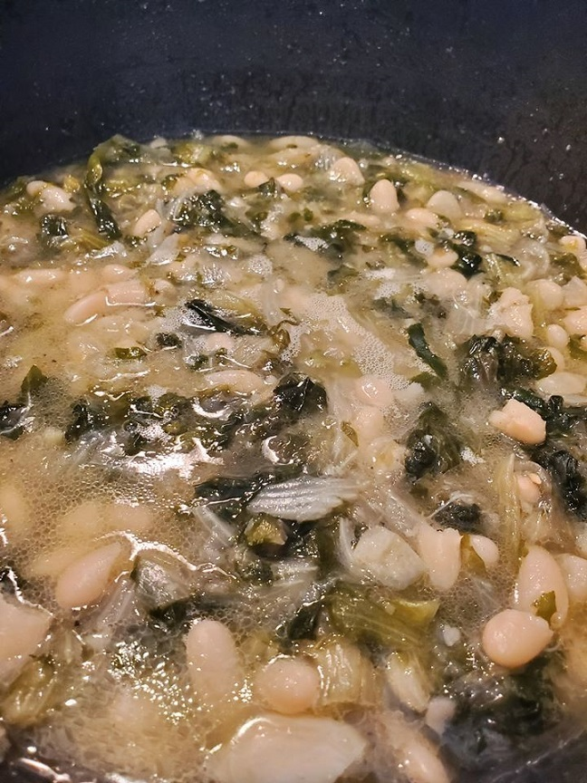 this is Italian escarole and beans
