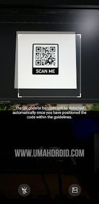Scan QR Code HP Samsung Dengan Internet