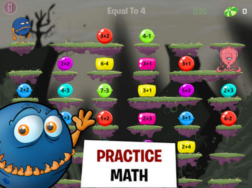 The Popular Monster Math App Is Free Today Grab It   Educational