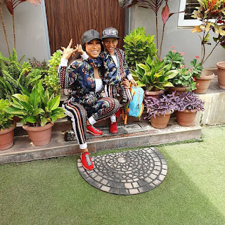 Tonto Dikeh And Her Son All Smiles As They Rock Matching Outfits
