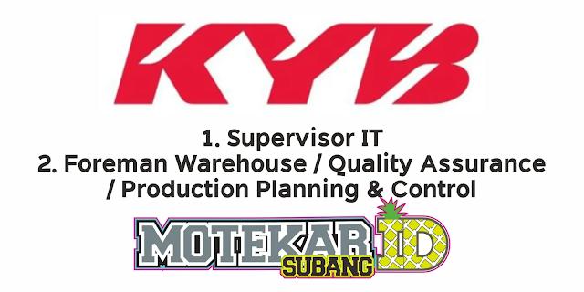 Info Lowongan Kerja PT Kayaba Indonesia Maret 2021 - Motekar Subang