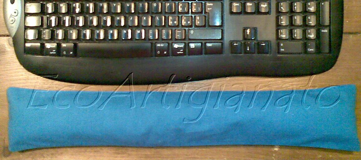 Ecoartigianato cuscino poggiapolso mouse tastiera eco e - Tastiera del letto ...