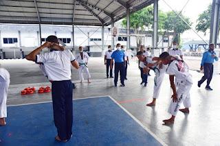 Latihan Bela Diri, Olahraga Baru Prajurit Koarmada II Tingkatkan Kekebalan Tubuh