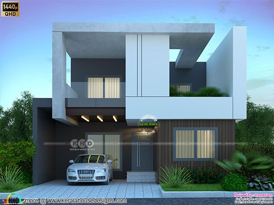 2800 sq-ft 4 bedroom modern contemporary  house front elevation