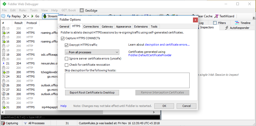 IT Security - Multi Platform : Using Fiddler to debug SAML