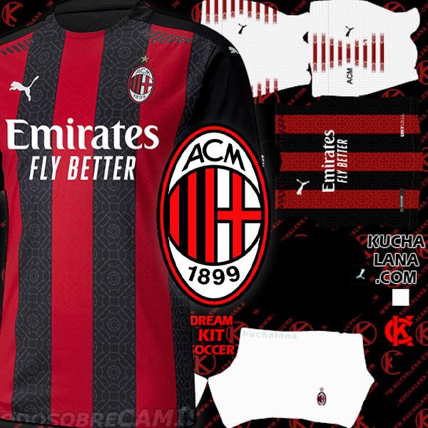 AC Milan Kits 2020/21 -  DLS20 Kits