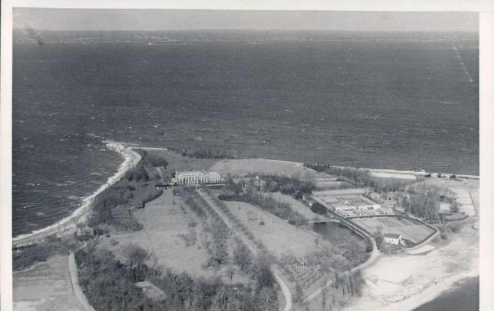 Old Long Island Matinecock Point Aerial
