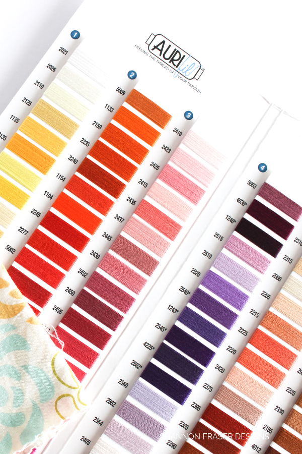 Aurifil Thread Color Chart | Shannon Fraser Designs