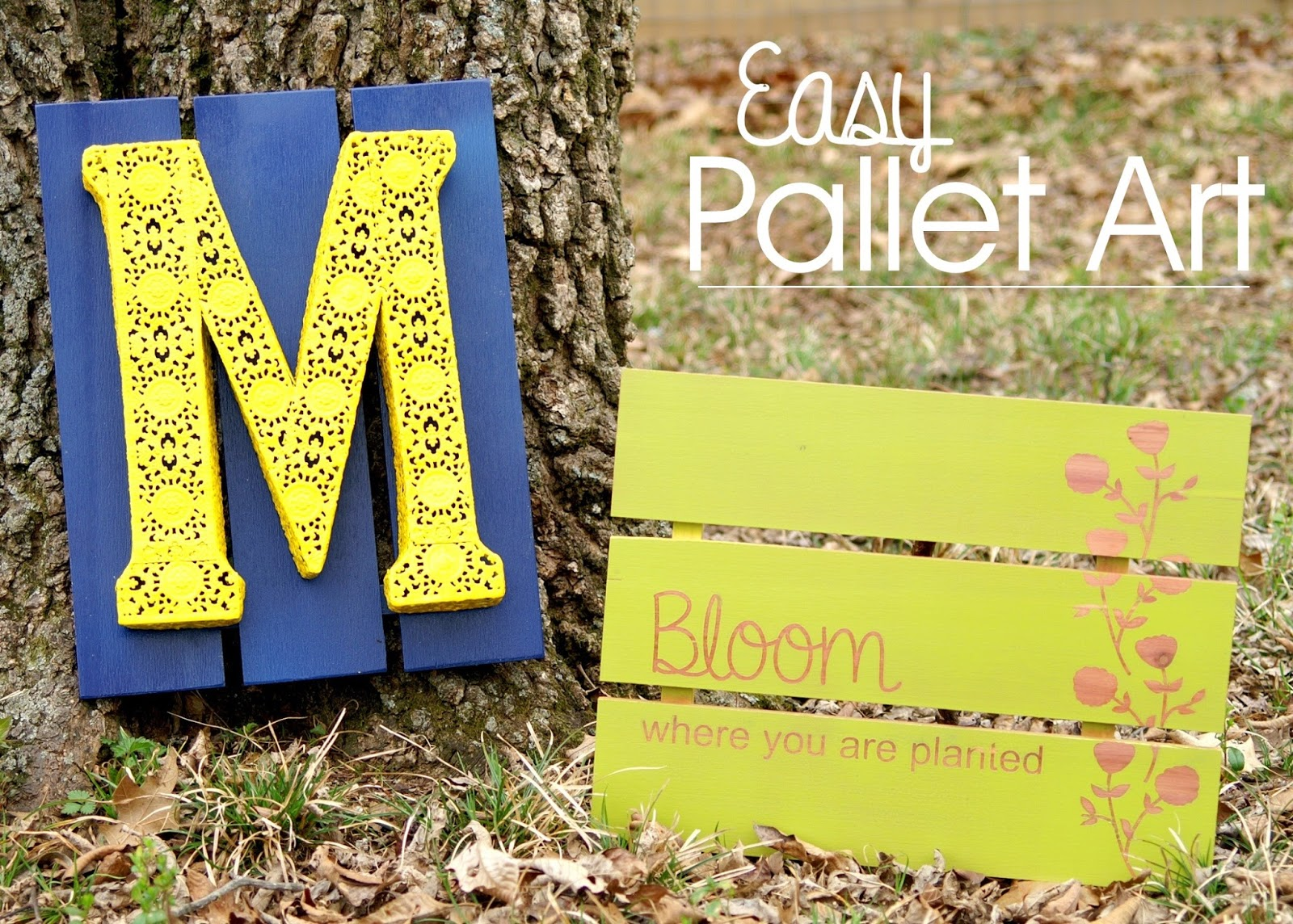 DIY Easy Pallet Art by The Scrap Shoppe - Do More for Less