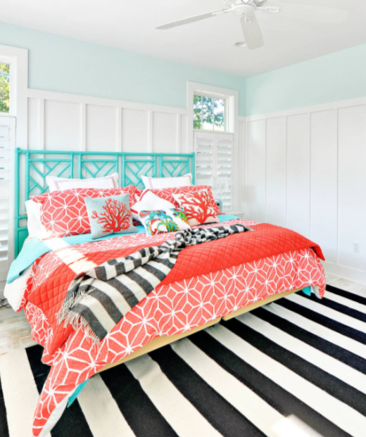 Coral Reef Print Bedding Ideas