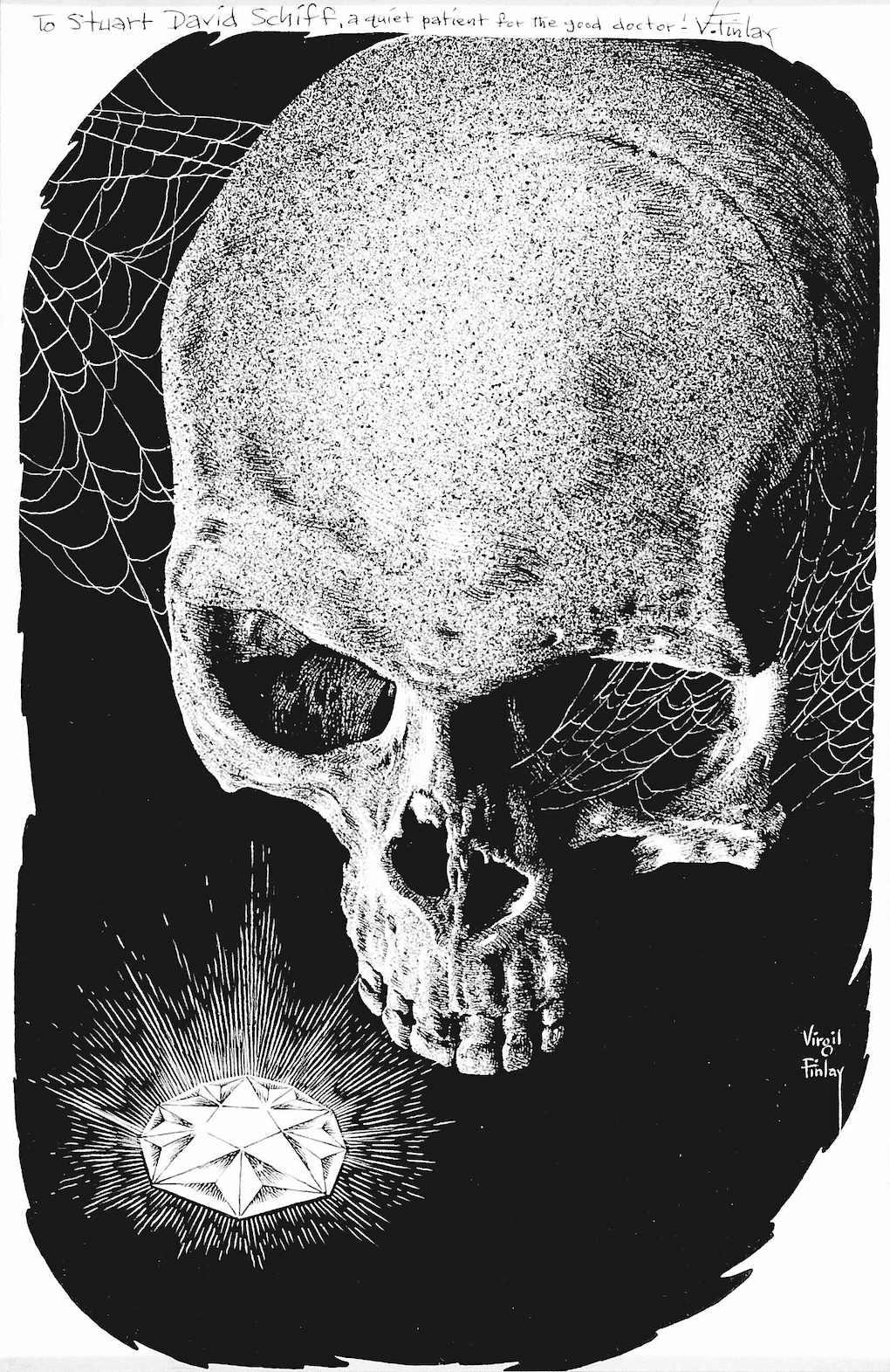 Virgil Finlay, a skull