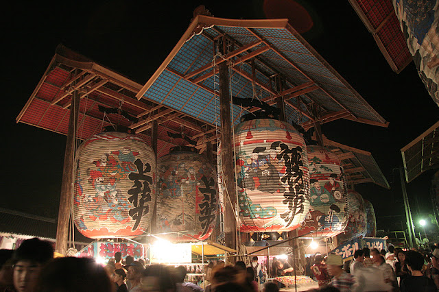 Mikawa Isshiki Chouchin Matsuri (lantern-light parade), Nishio City, Aichi