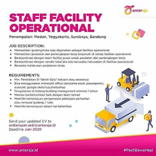 Staff Facility Operational di Anter Aja