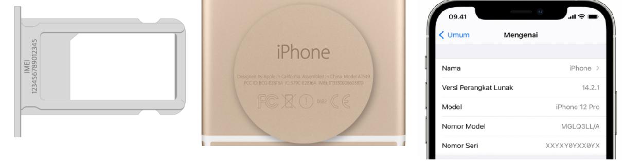 cara cek imei iphone / apple.com