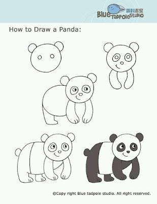 Cara menggambar panda