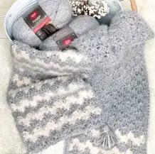 Bufanda Hygge Cloud a Crochet