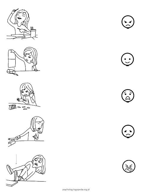 karty pracy za darmo do ćwiczen emocji