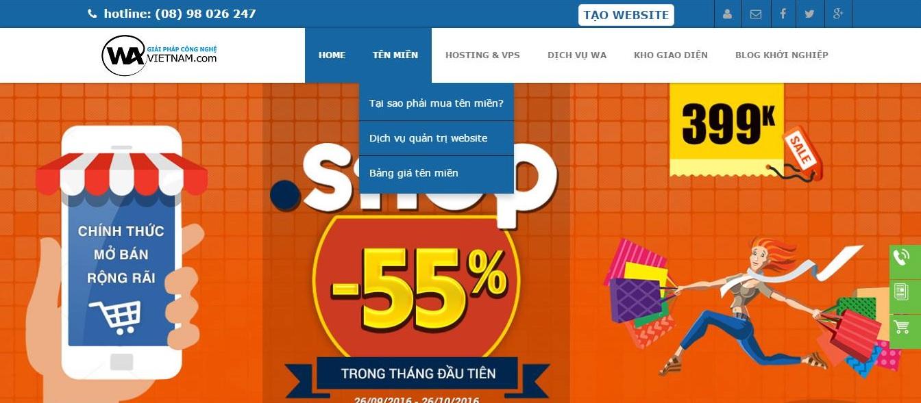 Share Source Code của công ty WaVietnam Web Bán Domain