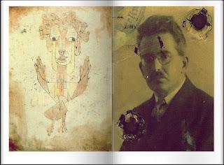 Angelus Novus de Paul Klee y retrato deWalter Benjamin