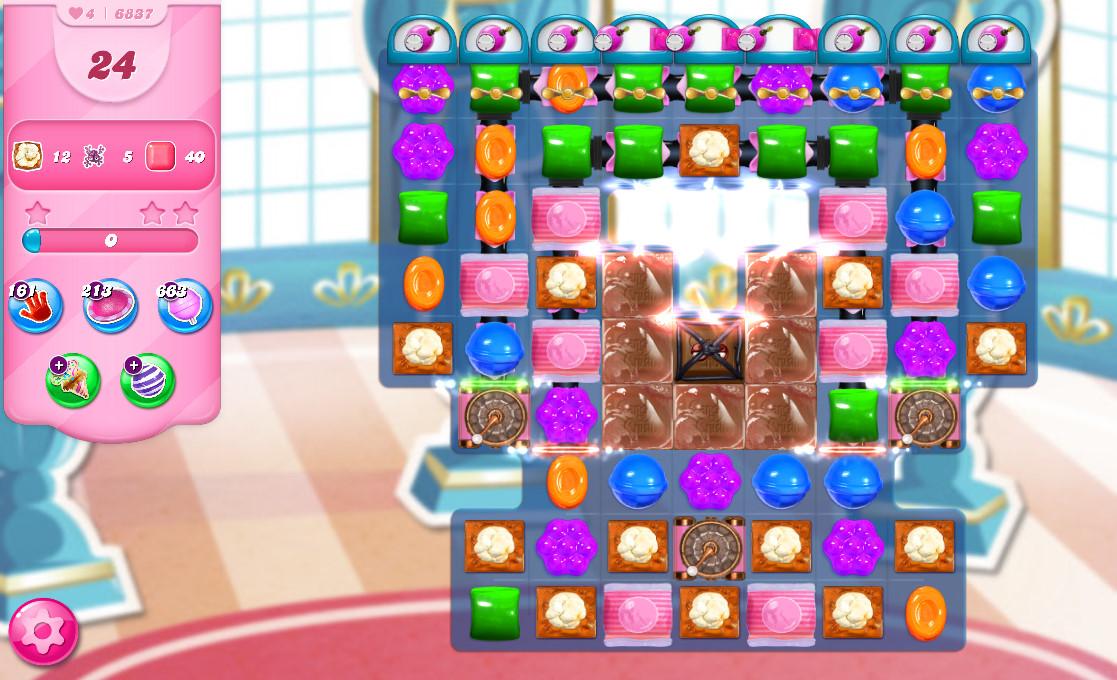 Candy Crush Saga level 6837