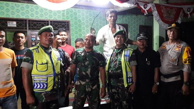 Koramil dan Polsek Panmas Patroli Bersama di Lokasi TMMD