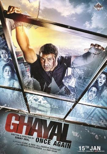 Poster Of Ghayal Once Again 2016 Hindi 720p DVDScr Audio Cleaned Free Download Watch Online