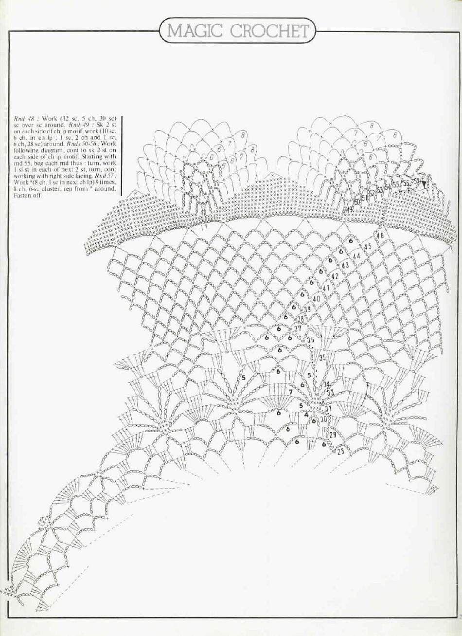 World crochet: Tablecloth 128