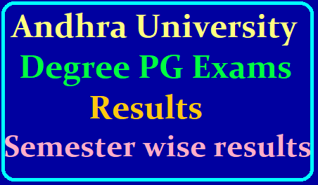 Andhra University Degree, PG Exam Results 2019 (AU, PG, UG Exams Semester wise Results) /2019/06/au-andhra-university-degree-pg-semester-wise-exams-results-available-on-the-official-website-andhrauniversity.edu.in.html