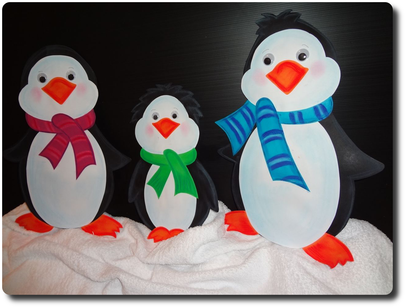 Za Kulisami Przedszkola Pingwinki Dekoracja Zimowa