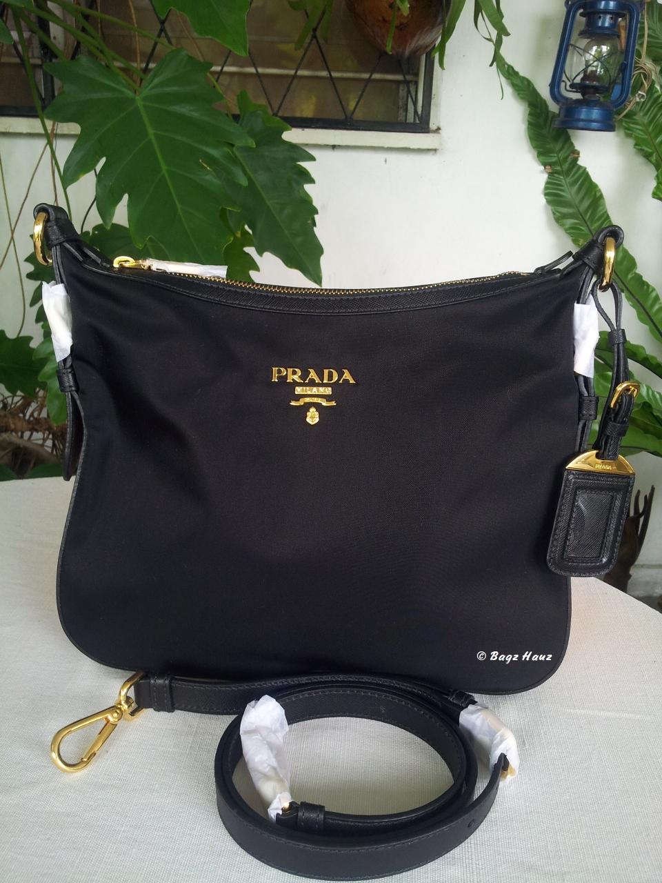 4746f8a0571 ... purchase sold beg raya prada sling bag bt0706 color black b9af7 99393