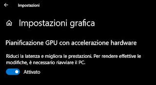 opzione pianificazione GPU